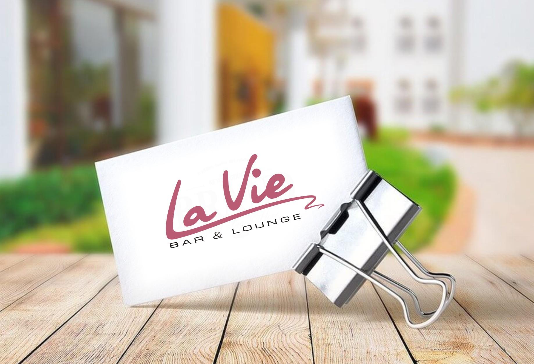 дизайн розробка лого для ресторану Ляві